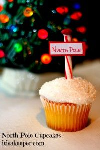 North Pole Cupcakes for Polar Express Party by It's a Keeper