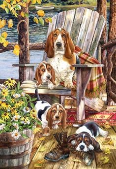 "Basset Hound Note Cards are 5 1/2"" x 4 1/4"" and come in packages of 10 cards. One design per package. All designs include envelopes. Blank inside. Great stocking stuffers!"