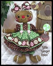 """~Primitive Raggedy NEW """"SPICE"""" Gingerbread Collection! 12"""" doll w/~lollipop!"""