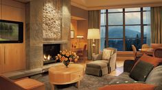 Image result for Residence at the Four Seasons Living Room fireplace