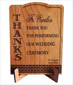 Wedding Officiant Gift,Wedding Thank You Cross,Custom Wedding ...
