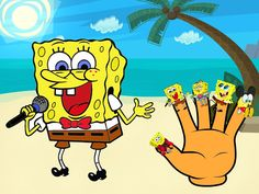 Finger Family (SPONGE BOB) Nursery Rhymes for Childrens Babies and Toddl...