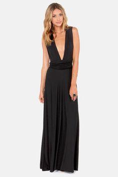 Tricks of the Trade Black Maxi Dress $68.00 Lulus.com