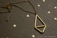 DIY: himmeli-inspired necklace