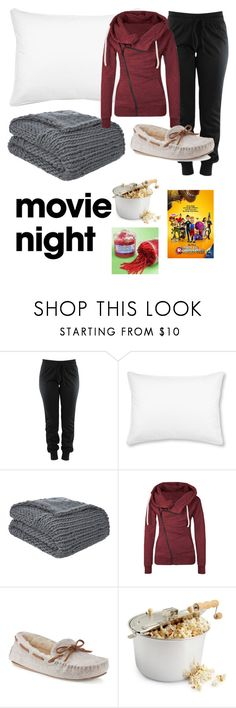 """Meet My Movie Night"" by somethingscribbled ❤ liked on Polyvore featuring L.L.Bean, Gray & Willow and SONOMA Goods for Life"