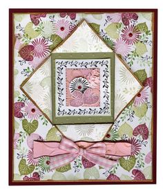 African Daisy Christmas in Pink | Rubber Stamp Tapestry