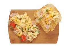 Nátierka z vajec a šunky aj pre diabetikov Group Meals, Scrambled Eggs, Bruschetta, Ham, Tacos, Toast, Mexican, Lunch, Bread
