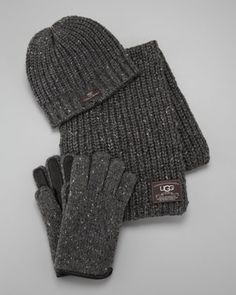 Hat, Scarf & Gloves Box Set, Gray  by UGG Australia at Neiman Marcus. $195