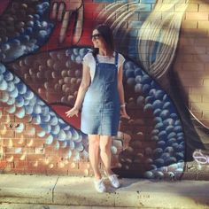 Myra's Cleo dungaree dress - sewing pattern by Tilly and the Buttons