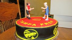 Middle School Wrestling cake - Made for an end of season, wrestling team party.  This was my first attempt at modeling human figures that were not to look too cartoonish.