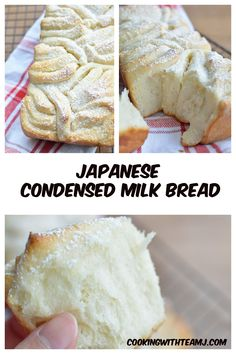Japanese Milk Bread has always been known to be super soft, fluffy and moist. This Japanese Condensed Milk Bread recipe kicks it up a notch! Bread Recipes, Baking Recipes, Japanese Milk Bread, Dessert Bread, Sweet Bread, Sweet Recipes, Food Porn, Food And Drink, Yummy Food