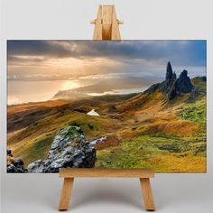 Canvas Print (3020) Isle of Skye Scotland No.2 - Various Sizes Premium Wall Art, UV Varnish Protection, Satin Gloss, High Quality Giclee Print, Picture, Painting, Artwork, Fine Art, Decor, Arrives Framed and Ready to Hang - For Bedroom, Living Room, Lounge, Kitchen, Bathroom, House, Home, Office: Amazon.co.uk: Kitchen & Home