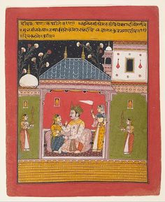 """Dipak Raga: Folio from a Ragamala Series (Garland of Musical Modes), 1630–40. India (Madhya Pradesh, Ragugarh (?)). The Metropolitan Museum of Art, New York. Gift of The Kronos Collections, 1982 (1982.462.4) 