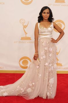 Kerry Washington in Marchesa – 2013 Emmy Awards Red Carpet