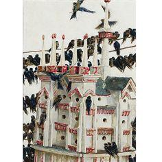 Jamie Wyeth - Bird's House, 1989, watercolor and... on MutualArt.com