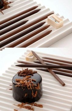 Chocolate Pencils (Will have to have a hunt for the chocolate slide rule!)