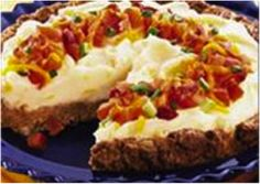 Bacon Cheeseburger Potato Pie. Yup, you read that right. Bound to be a new family favorite, especially on #GameDay