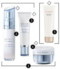 ARTISTRY IDEAL RADIANCE line of products. A solution for radiant, even skin  The ARTISTRY IDEAL RADIANCE Power System aims at bright, clear skin. Start with ARTISTRY Cleanser, followed by ARTISTRY Toner, and apply the silky, quickly absorbed Illuminating Essence, the most potent formula with the highest concentration of ingredients.
