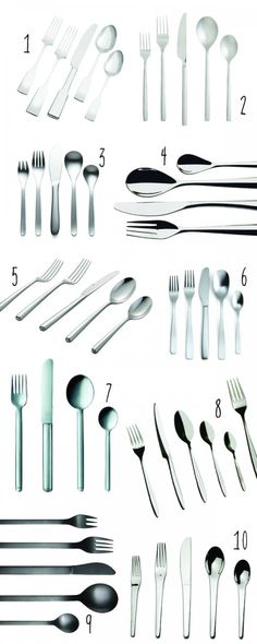 top 10: modern flatware to register for