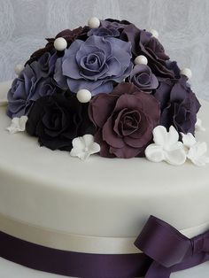Purple wedding cake by RatherTempting