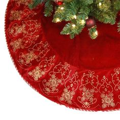 Chic Christmas tree skirt from Martha Stewart's Martha Holiday ...