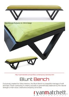 Cape Town based Industrial Designer Ryan Matchett, specializes in creating a variety of furnishings and décor accessories for lodges, hotels, restaurants and private homes both locally and internationally. Vanity Bench, Industrial Design, Decorative Accessories, Plush, House Design, Wood, Interior, Furniture, Home Decor