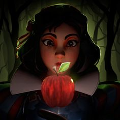 Snow White Characters, Disney Characters, Fictional Characters, Snow White Games, Painting Illustrations, Character Base, 3d Cartoon, Corner, Artwork