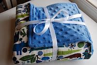 Easy DIY minky baby blanket--quick and easy shower gift