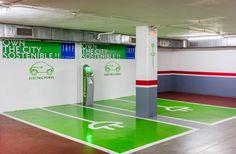 Plazas de recarga de vehículos eléctricos en el garaje