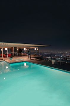 Pool to City View