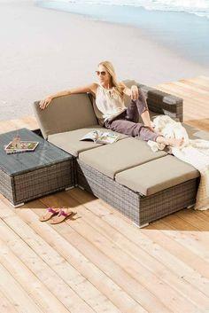 Gemütliche Loungebank Bali von Bizotto aus Teakholz. Große Auswahl ...