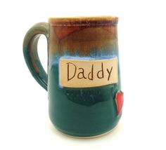 Daddy Handmade pottery mug pottery and ceramics by jewelpottery, $28.00