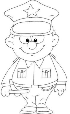 Police & Police Car Coloring Pages: These police car coloring pages printable will familiarize your kid with police and their vehicles which they use to maintain law and order by putting away the bad guys in prison. Cars Coloring Pages, Coloring Pages To Print, Coloring Sheets, Coloring Pages For Kids, Coloring Books, Kids Coloring, Fairy Coloring, Colouring, Police Officer Crafts