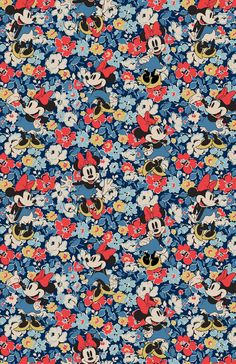 Minnie Mews Ditsy | Minnie's in full bloom, and woven seamlessly into the fabric of our signature ditsy floral | Disney X Cath Kidston 2016 |