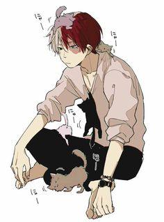 Todoroki Shouto - My hero academia He looks to cute here Boku No Hero Academia, My Hero Academia Memes, Hero Academia Characters, My Hero Academia Manga, Anime Characters, Manga Anime, Anime Art, Bakugou And Uraraka, Ken Tokyo Ghoul