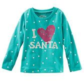 She'll love writing letters to Santa in this polka dot tee.<br>