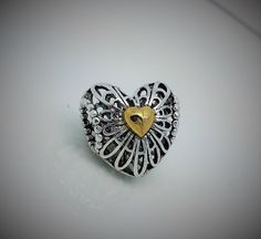 Golden Heart Charm Golden Heart, Heart Charm, Affair, Charmed, Accessories, Collection, Jewelry Accessories