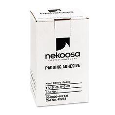 Nekoosa Coated Products Fan-out Padding Adhesive, 32 oz, Liquid