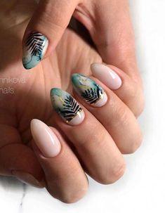 -Short almond nails design almond nails summer fake nails natural almond nail s Natural Almond Nails, Short Almond Nails, Nails Short, Long Gel Nails, Gel Nails At Home, My Nails, Short Nail Designs, Nail Art Designs, Spring Nails