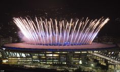 AUGUST 5, 2016. Fireworks exploded from the stadium as the Opening Ceremony for Rio Olympics 2016 kicked off