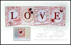Stampin' Up!  Love Banner  Tara Bilbao  Valentine