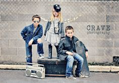Jeans+grays+whites for a neutral look---dress up with frilly dress for girl+hat and boots.