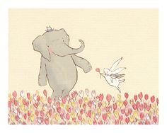 sarah jane studios :: Wellesley & Winslow Spring Meadow  8x10. $26.00 (sooooo many sweet prints for the nursery!)