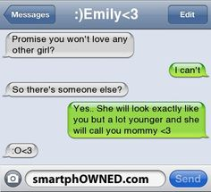 Page 118 - Relationships - Autocorrect Fails and Funny Text Messages - SmartphOWNED Funny Texts Jokes, Text Jokes, Stupid Funny Memes, Funny Relatable Memes, Text Pranks, Hilarious, Cute Couple Quotes, Cute Quotes, Funny Quotes