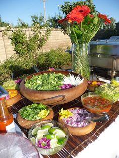 Dream Buffet: Taco Bar w/ Carne Asada, Chicken, Shrimp, & Veggies ~ Spinach… Party Fiesta, Party Ideas, Mexican Tacos, Mexican Party, Taco Bar Wedding, Wedding Catering, Havanna Party, Nacho Bar, Antipasto