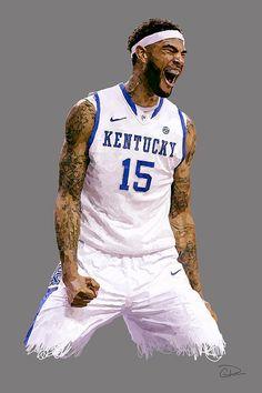 Willie Cauley-Stein by Charley Pallos Uk Wildcats Basketball, Basketball Art, Kentucky Basketball, University Of Kentucky, Kentucky Wildcats, Kentucky Sports, My Old Kentucky Home, Cool Kids, My Arts