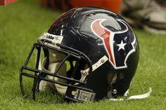 Houston Texans Helmet Houston Texans Football, Nfl Houston Texans, Nfl Football Helmets, Football Team, Jerry Jones, Nfl Photos, Team Mascots, Loving Texas, Sports