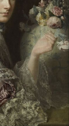 Allan Ramsay, The Artist's Wife, Margaret Lindsay of Evelick (detail) 1758
