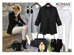 """""""Romwe VIII-1"""" by azra-90 ❤ liked on Polyvore featuring C Label, Palm Beach Jewelry, Movado and romwe"""