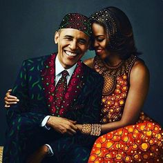 President Barack Obama and First Lady Michelle Obama African Girl, African Beauty, African Dress, African Fashion, African Attire, Michelle Und Barack Obama, Barack Obama Family, Jacky, First Black President